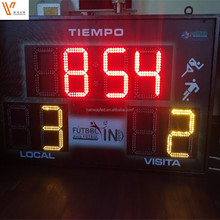 Elektronische LED Basketbal/Voetbal Display Score Board, led voetbal scorebord met LED team naam