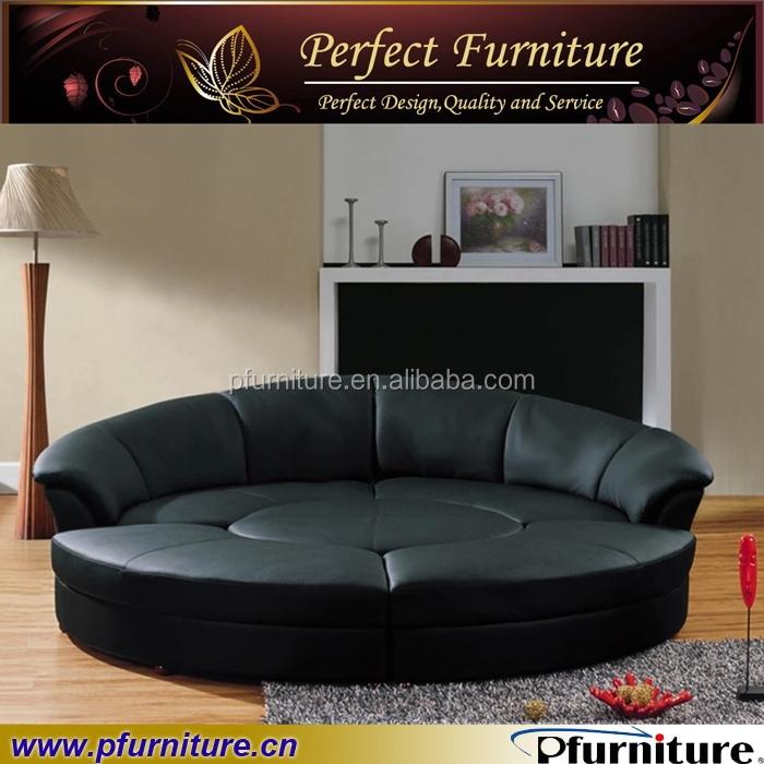 Sofá salón sofá de cuero muebles gran sofá redondo-Sofás para la ...