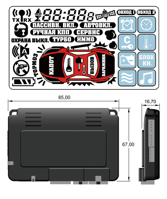 Gsm Can Bus Dataport Two Way Car Alarm And Keyless Entry