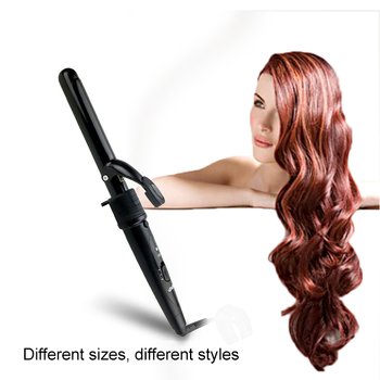 5 In 1 Hair Curler Curling Wand Set Curling Iron Black Interchangeable Ceramic Barrels With Heat Resistant Glove
