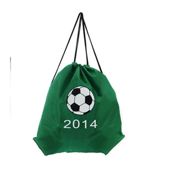 Custom newest drawstring sport backpack polyester football drawstring backpack
