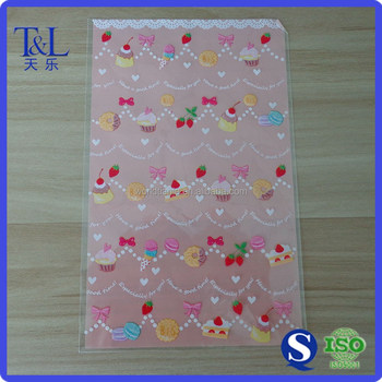 Cute One Side Printed Plastic Patterned Cellophane Bags For Candy Packaging