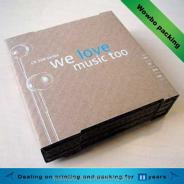 high quality cardboard paper CD packing box