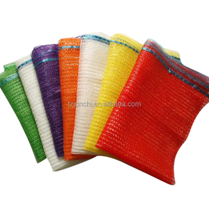 high-strength orange plastic pp leno drawstring mesh bag