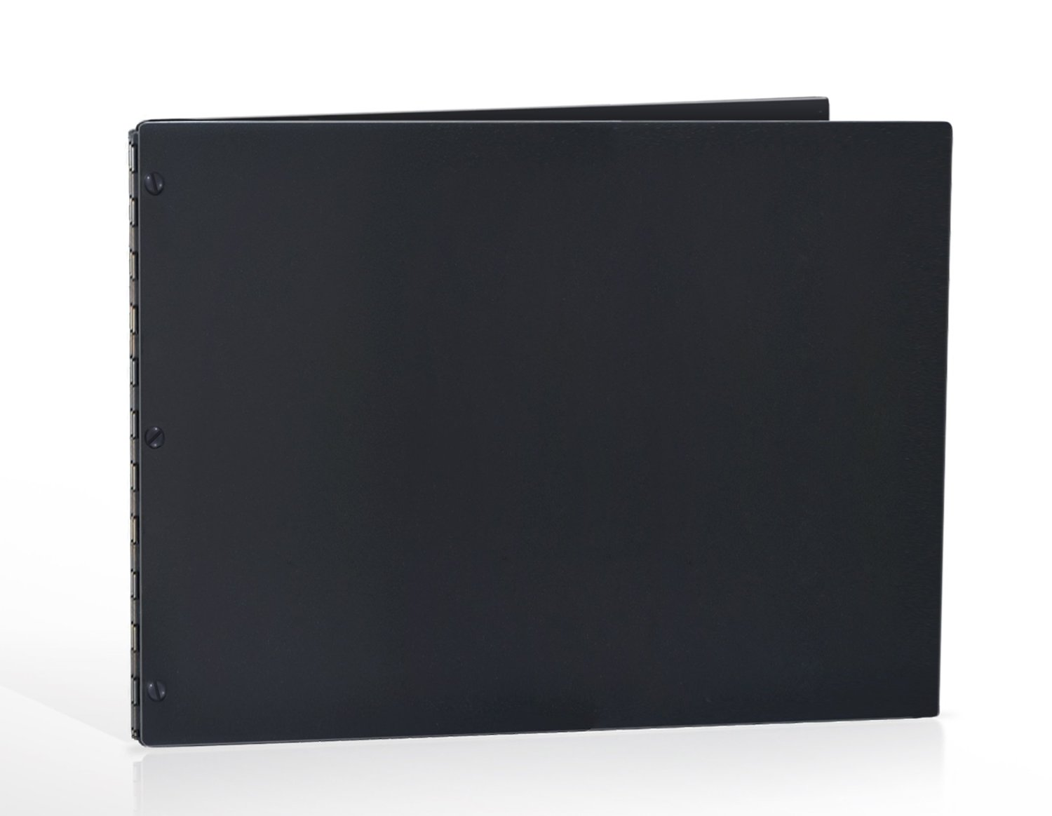 11x14 Landscape Matte Black Portfolio with Black Hinges. Portfolio book, Screw post portfolio, Portfolio Presentation. Engraving services are not included.