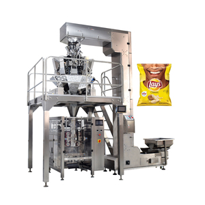 China Price Automatic Nitrogen Air Pouch Small Snack Food Potato Chips Packing Machine
