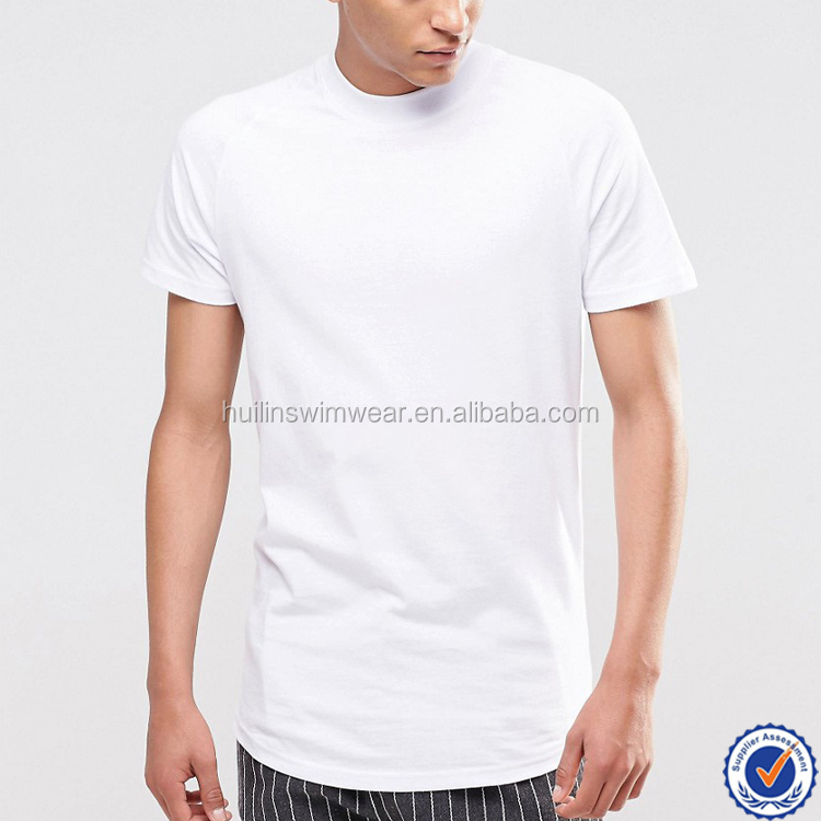 bb3fb2b0a28b4b 100% Cotton High Neck T Shirt For Men Wholesale Plain White T Shirts ...
