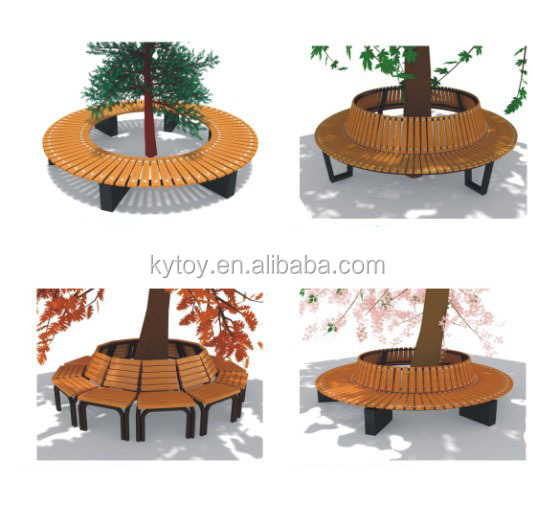 Garden furniture round bench round tree bench buy garden Circular tree bench