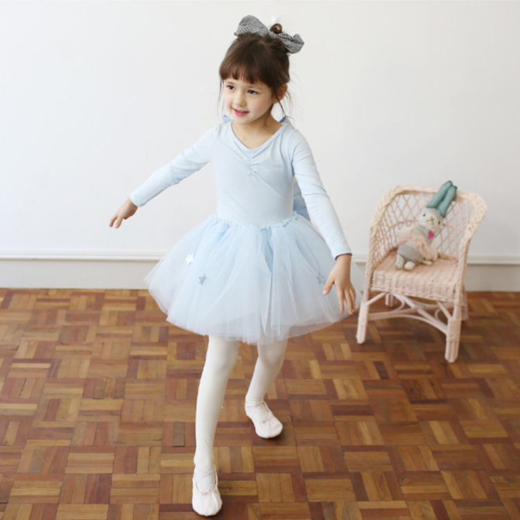 c56f16e4dc42 Girls Western Dance Costumes Long Sleeve Princess Baby Tutu Ballet ...