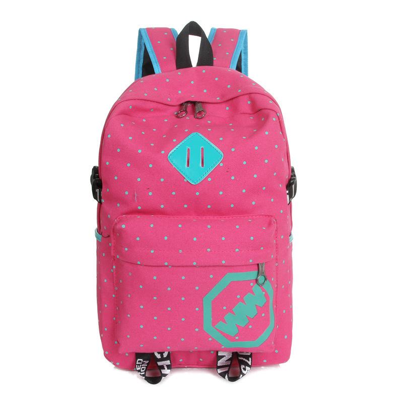 Get Quotations · Canvas dot women backpack female kids sports bag children  school bags for teenage girls boys mochilas fa275e306f
