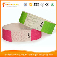 One Time Use Typek Paper UHF NFC Wristband for Ticketing at Lowest Price