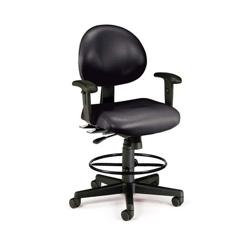 OFM 241-VAM-AADK-66 24 Hours Anti-Microbial/Anti-Bacterial Vinyl Computer Task Chair with Arms, Drafting Kit