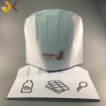 54fe245d Kids Size Logo Printing Children Chef Hats Disposable Kid Chef Hat