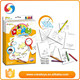 Drawing creatively colorful pen and book Kid painting toy div game 3d