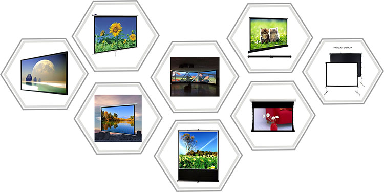 Factory Directly Selling customize Portable tripod projection screen