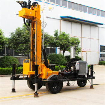 deep water well drilling down the hole rotary air mud drilling truck mounted