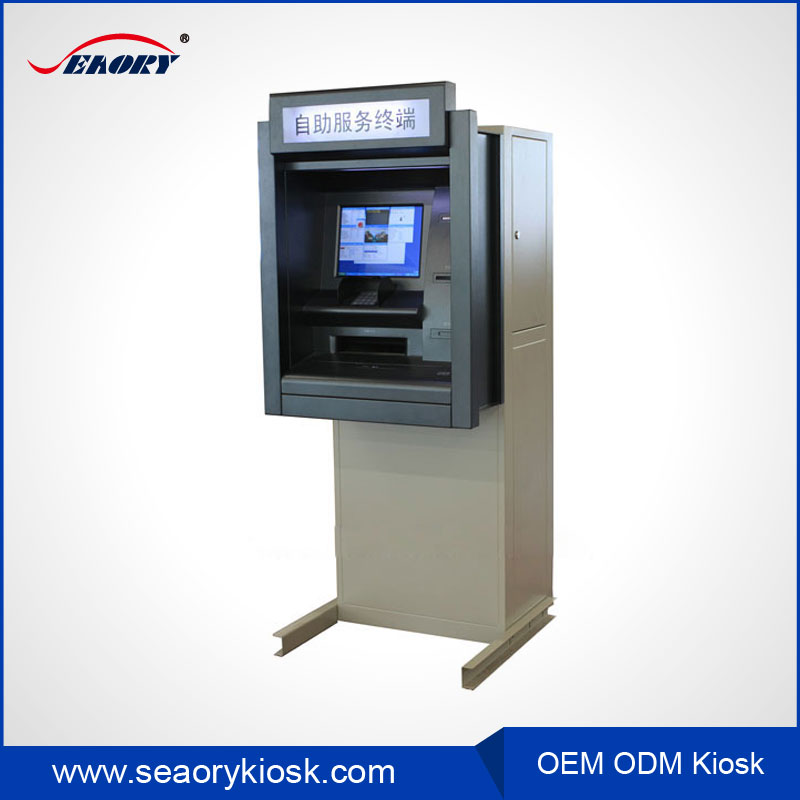 Customized Bank ATM Kiosk with A4 Printer
