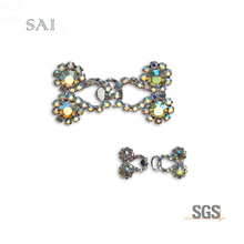"7/8 ""X1 1/<span class=keywords><strong>2</strong></span>"" Rhinestone Hook & Eye"