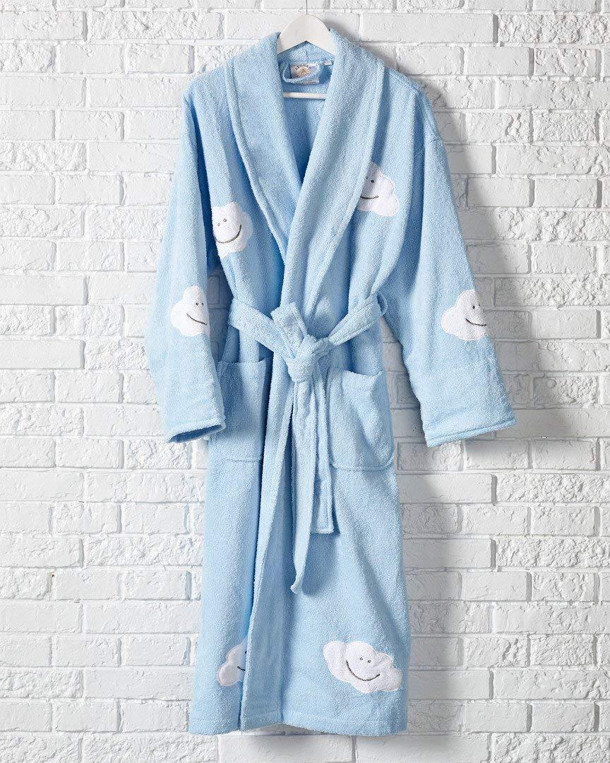 be17b7828a Buy Aegean Apparel Daisy Appliqued Cotton Terry Bathrobe Short ...