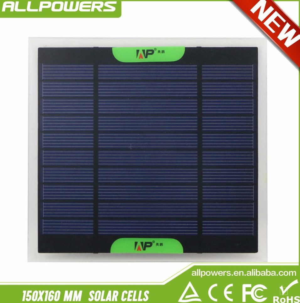 Mini Power 500mAh 3W Polycrystalline Solar Panel PET Solar Cells for Solar System Charger