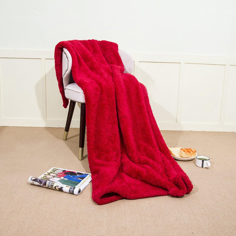 Ataya Faux Fur Bed Blanket Plush Sherpa Long Pile Fleece Cozy Teddy Bear Throw