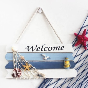 Garden decoration ocean sea series wall welcome sign wood print plaque