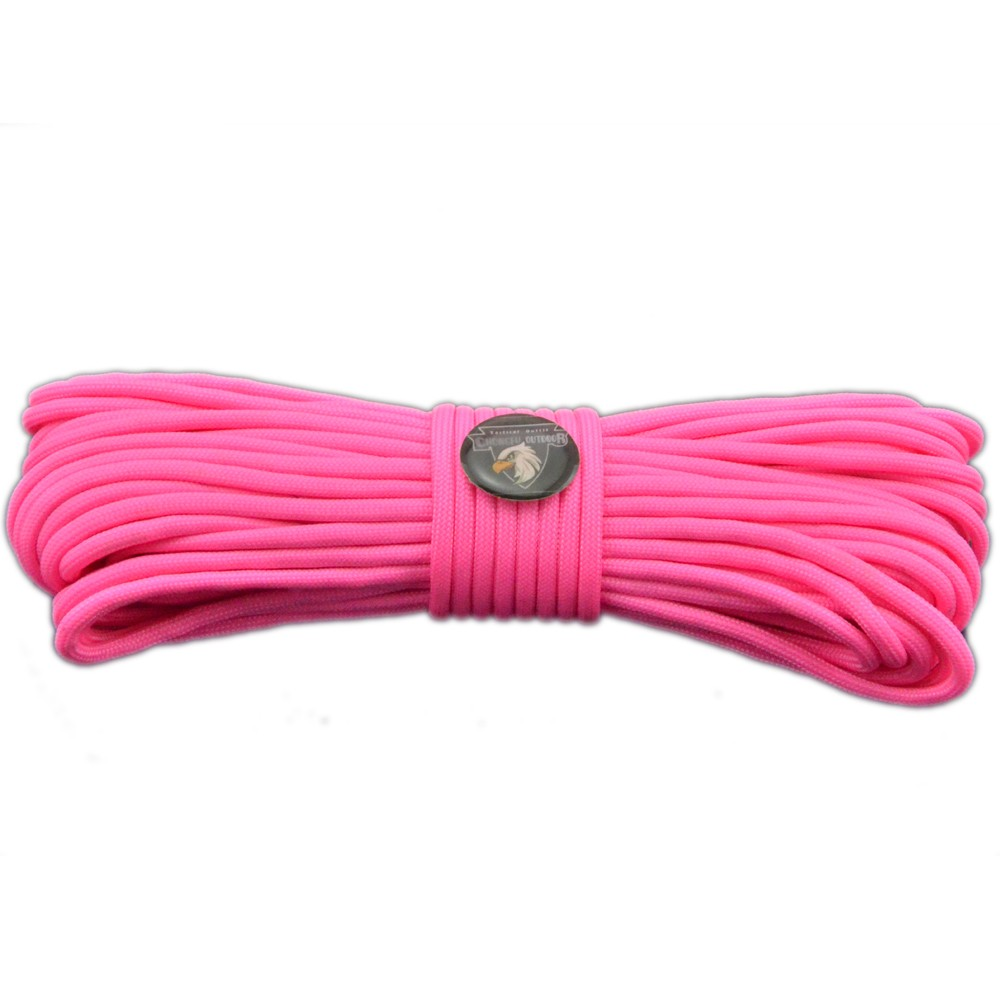 most popular cheap high quality 50ft 550 type III 7 strands survival paracord for camping