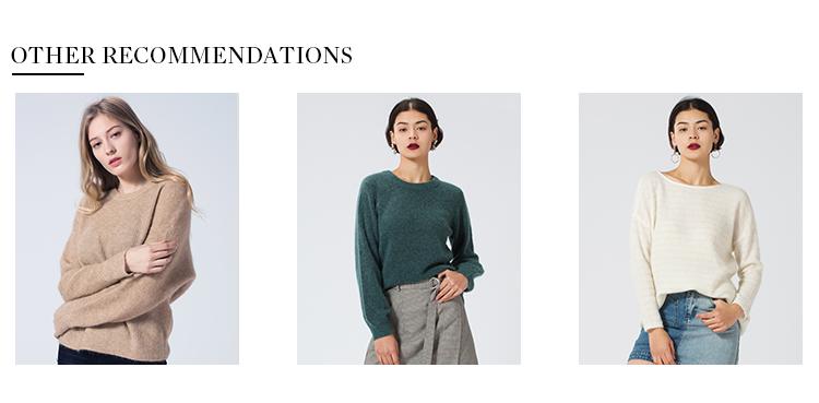 Grosir Wanita Unta Mohair Pullover Sweater Wanita Round Leher Fashion Sweter
