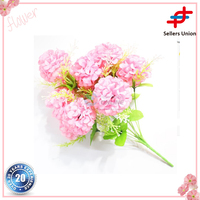 Wholesale 12 Heads Pink artificial flowers wholesale Real touch hydrangea