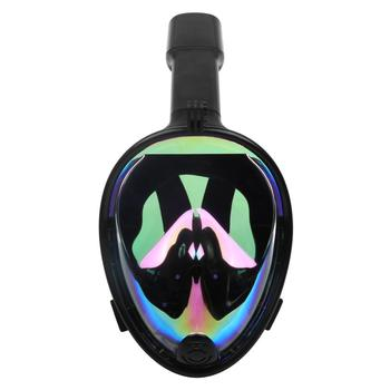 Silicone Colorful Mirror Coating Lens Full Face Diving Mask