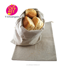 Promotions Custom cheaper 100% Organic Handmade linen bread bag with pattern