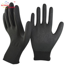 SRSAFETY 2015 Merry Christmas!13g winter used thick nitrile coated safety winter working gloves,safety equipment working gloves
