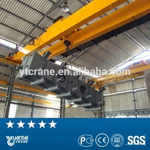 Best price 7.5t+7.5t overhead crane with electromagnet for lifting tubes,rebars,coils