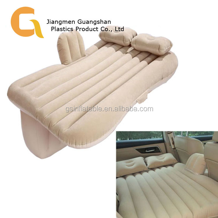 PVC inflatable camping car air mattress bed for back seat