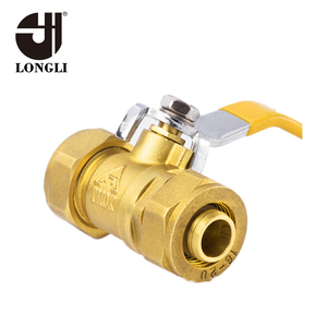 LTK211 live connection two piece brass aluminum plastic tube ball valve