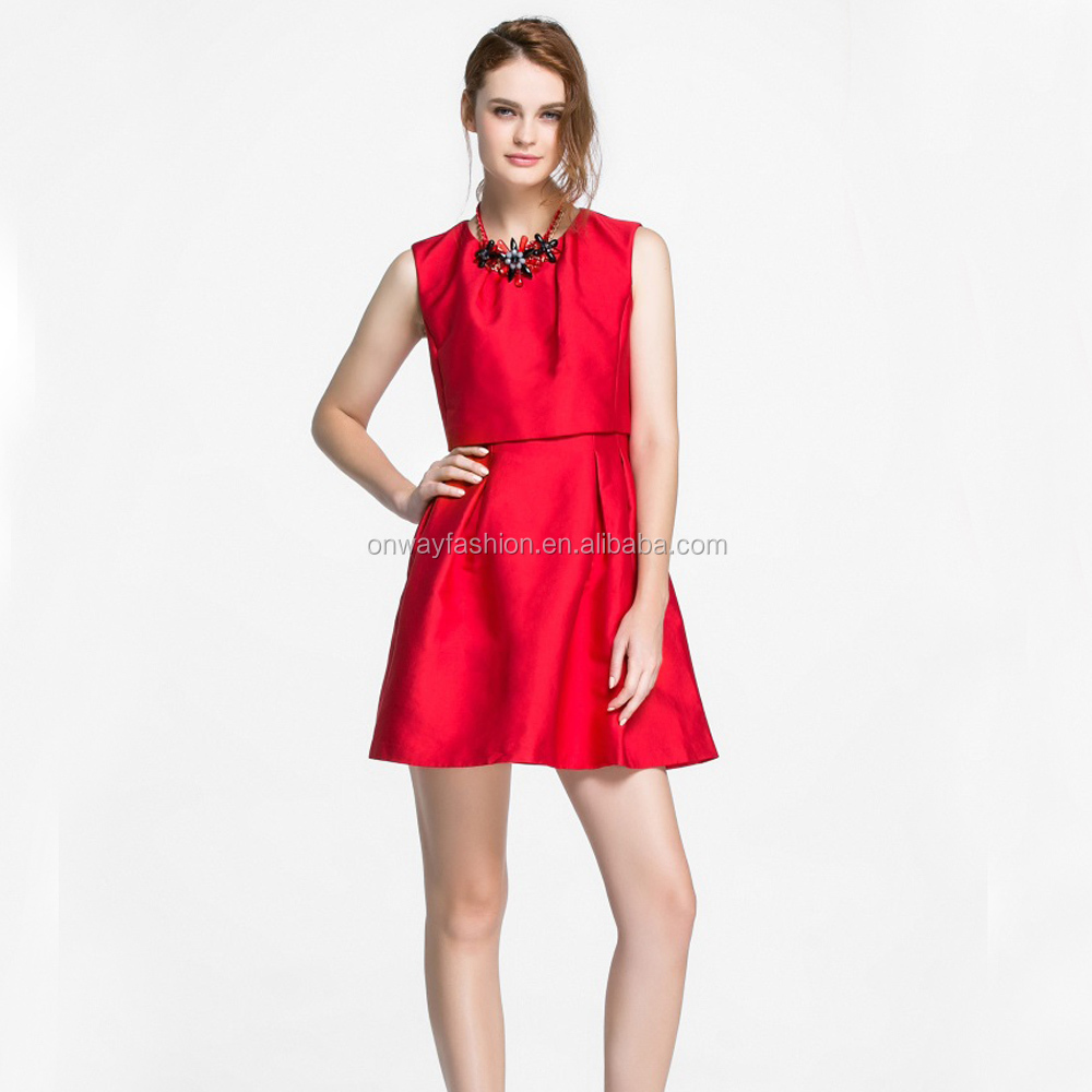 OEM Dress Mufacturer New Fashion Ladies Modern Women Dress Satin Sleeveless One Piece Summer Dress