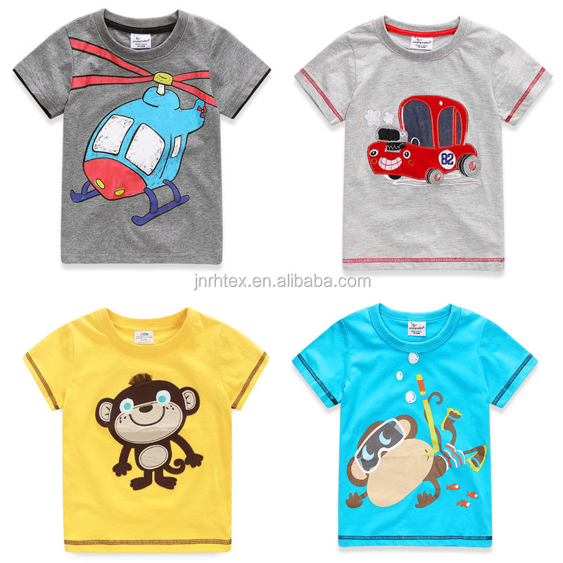Oem cotton screen print boys kids t shirt design wholesale for Kids t shirts in bulk