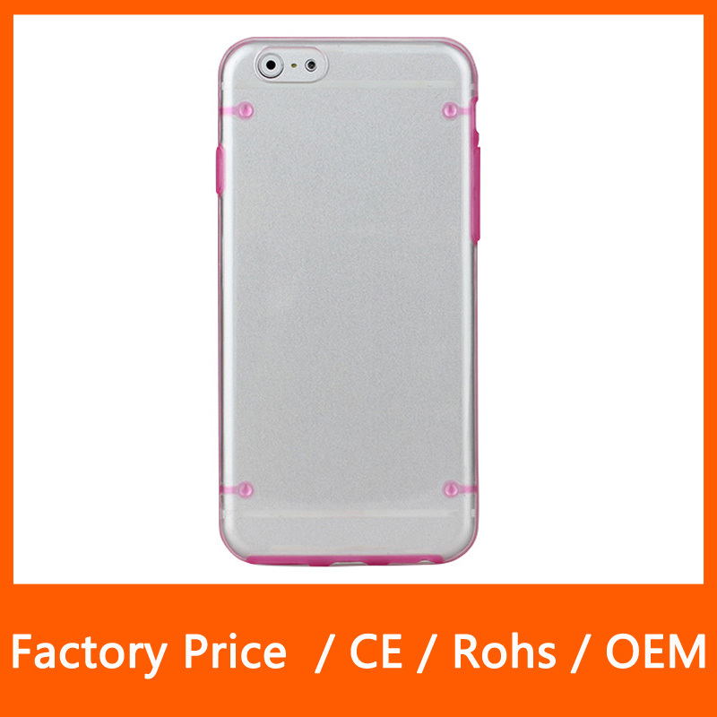 2015 Unique Design Clear Light Glow In The Dark Night Light Back Case For iPhone 6