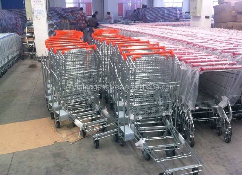 120L standard plastic foldable shopping trolley cart