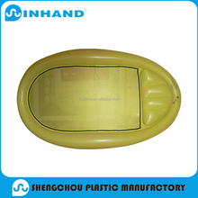 custom made pvc inflatable round air mattress/Float lounger inflatable/ air bed
