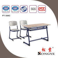 India hot selliing school double desk and chair school double desk & chair