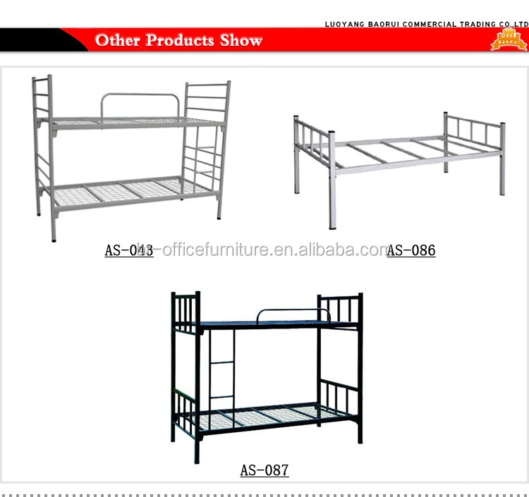 Cheap heavy duty double decker steel beds frame metal bunk for Bunk bed frames for sale