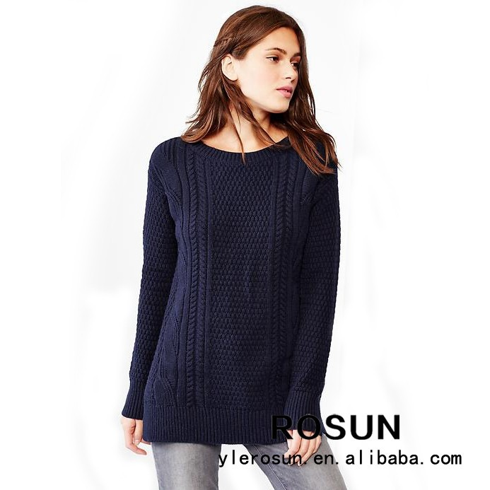 Modern Style Knit Striped Pattern Sweater Korean Free ...