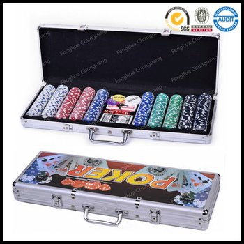 500 poker chip set, 300,200 stuks
