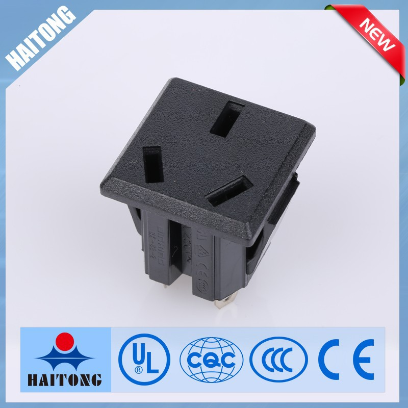 3 Pin Inlet Connector Ac Power Sockeet For Solider Wireless Ac-05 ...
