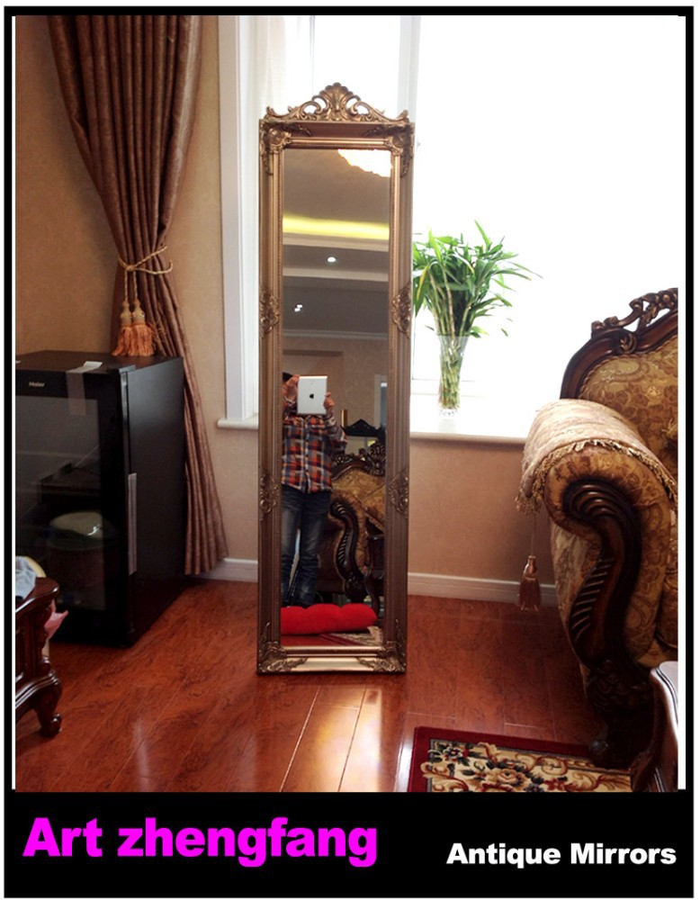 hotel art hanging framed mirror,wooden vintage decorative wall mirror,old wood mirror frame