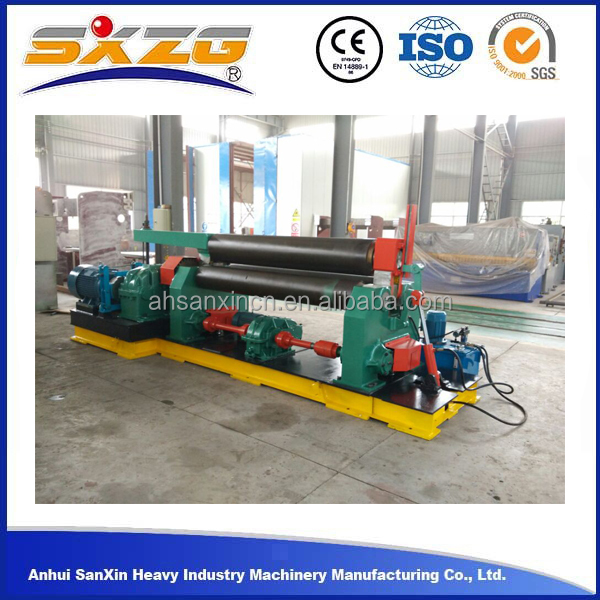 W11 3 roller mechnical used steel plate rolling machine, aluminum metal sheet profile rolling machine