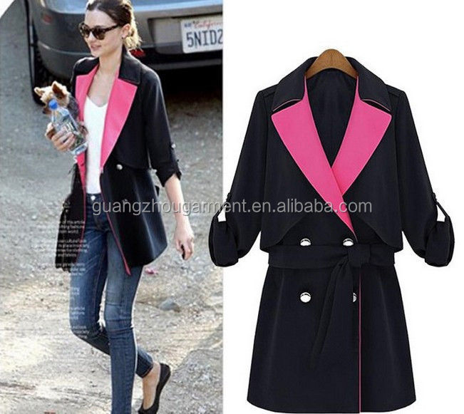 New 2014 Spring Autumn England casual long wind cool jacket sections women windbreaker jacket coat