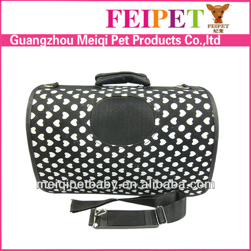 Popular white heart pet carriers for dogs