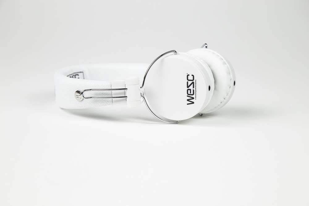 SMS Audio WESC-M30-WHT On-Ear Wired Headphones, White